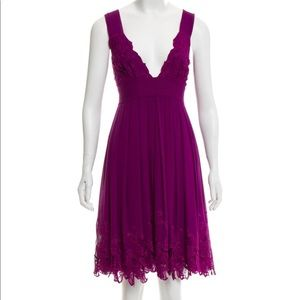 Catherine Malandrino Embroidered Silk Dress 10